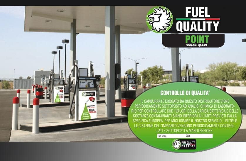 fai diventare il tuo distributore di carburante un Fuel Quality Point